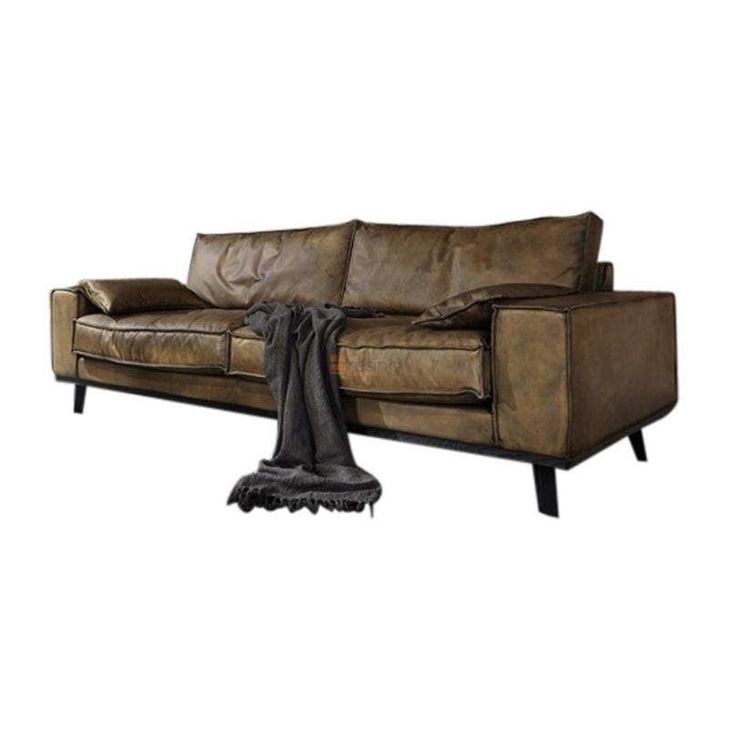 bodahl dwayne sofa luxus in echtem b ffelleder. Black Bedroom Furniture Sets. Home Design Ideas